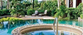mosaïque piscine sable